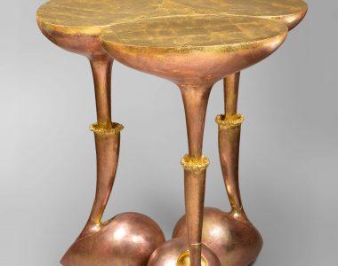 """""""Folie végétale"""" pedestal table"""