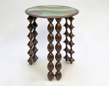 """Cheyennes"" table, purple pink !"